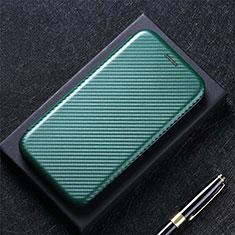 Coque Portefeuille Livre Cuir Etui Clapet L08 pour Huawei Y7a Vert