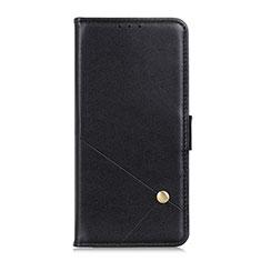 Coque Portefeuille Livre Cuir Etui Clapet L08 pour LG K52 Noir
