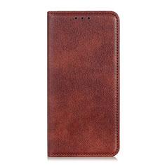 Coque Portefeuille Livre Cuir Etui Clapet L08 pour LG K92 5G Marron