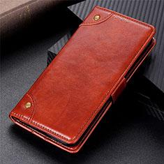 Coque Portefeuille Livre Cuir Etui Clapet L08 pour Motorola Moto G 5G Brun Clair