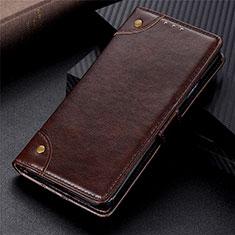 Coque Portefeuille Livre Cuir Etui Clapet L08 pour Motorola Moto G 5G Marron