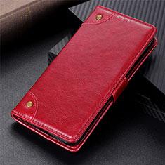 Coque Portefeuille Livre Cuir Etui Clapet L08 pour Motorola Moto G 5G Rouge