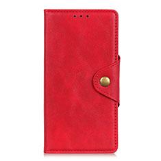 Coque Portefeuille Livre Cuir Etui Clapet L08 pour Motorola Moto G Fast Rouge