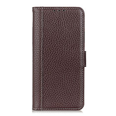 Coque Portefeuille Livre Cuir Etui Clapet L08 pour Motorola Moto G Pro Marron