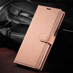 Coque Portefeuille Livre Cuir Etui Clapet L08 pour Samsung Galaxy S21 5G Or Rose