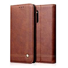 Coque Portefeuille Livre Cuir Etui Clapet L09 pour Huawei Honor 30 Marron