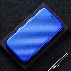 Coque Portefeuille Livre Cuir Etui Clapet L09 pour LG K52 Bleu