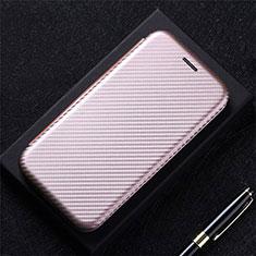 Coque Portefeuille Livre Cuir Etui Clapet L09 pour LG K52 Or Rose