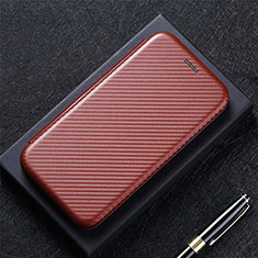 Coque Portefeuille Livre Cuir Etui Clapet L09 pour LG Q52 Marron