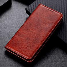 Coque Portefeuille Livre Cuir Etui Clapet L09 pour Motorola Moto G 5G Marron