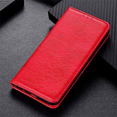 Coque Portefeuille Livre Cuir Etui Clapet L09 pour Motorola Moto G 5G Rouge