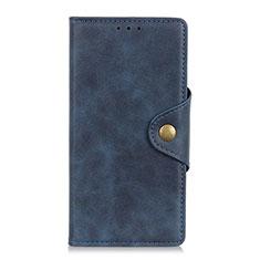 Coque Portefeuille Livre Cuir Etui Clapet L09 pour Motorola Moto One Fusion Plus Bleu