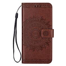 Coque Portefeuille Livre Cuir Etui Clapet L09 pour Samsung Galaxy S20 Ultra 5G Marron