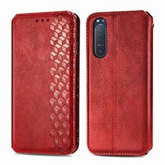Coque Portefeuille Livre Cuir Etui Clapet L09 pour Sony Xperia 5 II Rouge