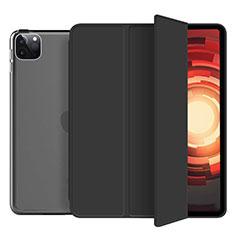 Coque Portefeuille Livre Cuir Etui Clapet L10 pour Apple iPad Pro 12.9 (2020) Noir
