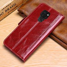 Coque Portefeuille Livre Cuir Etui Clapet L10 pour Huawei Mate 20 Rouge