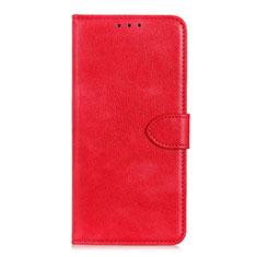 Coque Portefeuille Livre Cuir Etui Clapet L10 pour Huawei Y5p Rouge