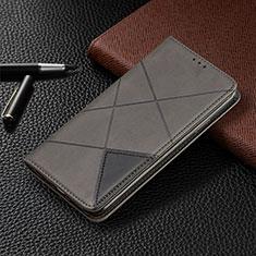 Coque Portefeuille Livre Cuir Etui Clapet L10 pour Huawei Y6p Gris
