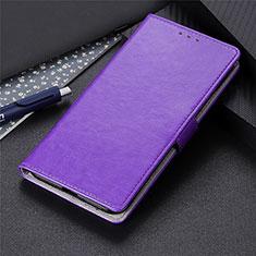 Coque Portefeuille Livre Cuir Etui Clapet L10 pour LG K41S Violet