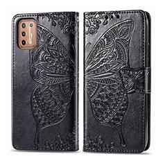 Coque Portefeuille Livre Cuir Etui Clapet L10 pour Motorola Moto G9 Plus Noir