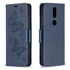 Coque Portefeuille Livre Cuir Etui Clapet L10 pour Nokia 2.4 Bleu