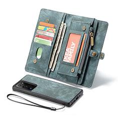 Coque Portefeuille Livre Cuir Etui Clapet L10 pour Samsung Galaxy Note 20 Ultra 5G Vert