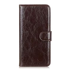 Coque Portefeuille Livre Cuir Etui Clapet L10 pour Xiaomi Mi 10 Lite Marron