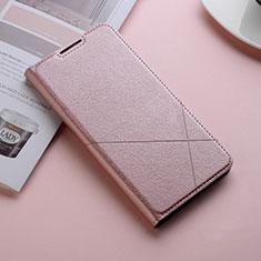 Coque Portefeuille Livre Cuir Etui Clapet L11 pour Huawei Honor 10 Lite Or Rose