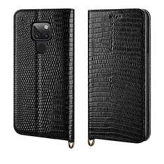 Coque Portefeuille Livre Cuir Etui Clapet L11 pour Huawei Mate 20 Noir