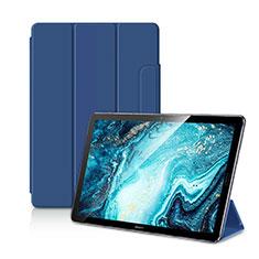 Coque Portefeuille Livre Cuir Etui Clapet L11 pour Huawei MediaPad M6 10.8 Bleu