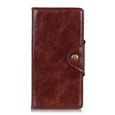 Coque Portefeuille Livre Cuir Etui Clapet L11 pour Huawei Y5p Marron