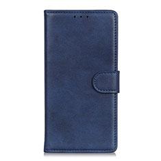 Coque Portefeuille Livre Cuir Etui Clapet L11 pour Motorola Moto Edge Bleu