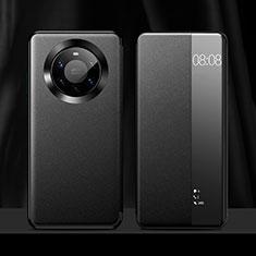Coque Portefeuille Livre Cuir Etui Clapet L12 pour Huawei Mate 40 Pro+ Plus Noir