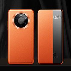 Coque Portefeuille Livre Cuir Etui Clapet L12 pour Huawei Mate 40 Pro+ Plus Orange