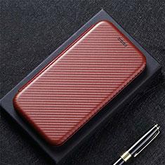 Coque Portefeuille Livre Cuir Etui Clapet L12 pour LG K92 5G Marron