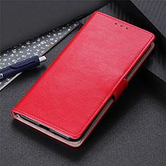 Coque Portefeuille Livre Cuir Etui Clapet L12 pour Motorola Moto Edge Rouge
