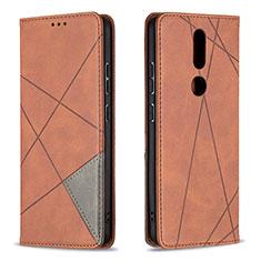 Coque Portefeuille Livre Cuir Etui Clapet L12 pour Nokia 2.4 Marron