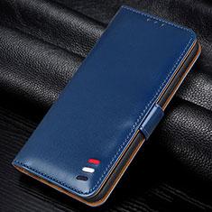 Coque Portefeuille Livre Cuir Etui Clapet L12 pour Samsung Galaxy M21s Bleu