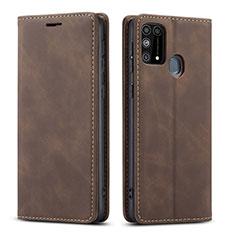 Coque Portefeuille Livre Cuir Etui Clapet L15 pour Samsung Galaxy M21s Marron
