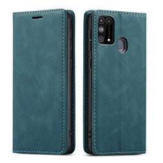 Coque Portefeuille Livre Cuir Etui Clapet L15 pour Samsung Galaxy M21s Vert