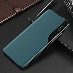 Coque Portefeuille Livre Cuir Etui Clapet L15 pour Xiaomi Mi 10T 5G Cyan