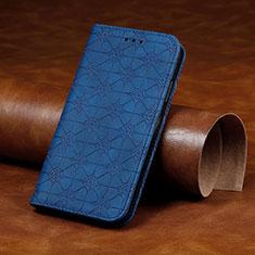 Coque Portefeuille Livre Cuir Etui Clapet L17 pour Huawei Y7p Bleu