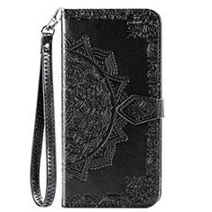 Coque Portefeuille Livre Cuir Etui Clapet L18 pour Huawei Y7p Noir