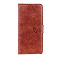 Coque Portefeuille Livre Cuir Etui Clapet N05 pour Huawei P40 Marron