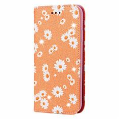 Coque Portefeuille Livre Cuir Etui Clapet N05 pour Samsung Galaxy Note 20 Ultra 5G Orange