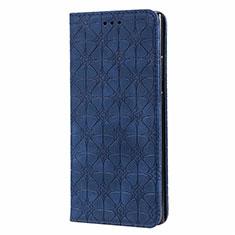 Coque Portefeuille Livre Cuir Etui Clapet N06 pour Samsung Galaxy Note 20 Ultra 5G Bleu