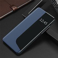 Coque Portefeuille Livre Cuir Etui Clapet N09 pour Huawei P40 Bleu