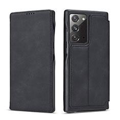 Coque Portefeuille Livre Cuir Etui Clapet N09 pour Samsung Galaxy Note 20 5G Noir