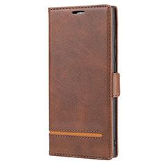 Coque Portefeuille Livre Cuir Etui Clapet N11 pour Samsung Galaxy Note 20 Ultra 5G Marron