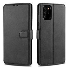 Coque Portefeuille Livre Cuir Etui Clapet N12 pour Samsung Galaxy Note 20 Ultra 5G Noir